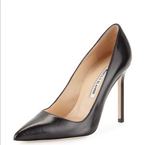 BB Leather 105mm Pump, Black Leather